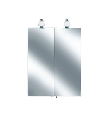 Keuco 05601171351 Royal 30 Lighted Mirror Cabinet with Silver Anodized Body and Matt White Light Shades