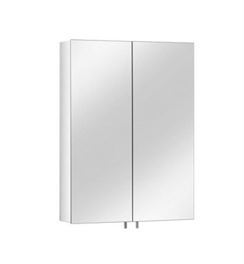 Keuco 05601171300 Royal 30 Mirror Cabinet with Silver Anodized Body Finish and 3 Glass Shelves