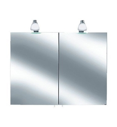 Keuco Royal 30 05602 Lighted Mirror Cabinet with Silver Anodized Body and Matt White Light Shades