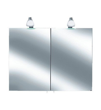 Keuco 05602171351 Royal 30 Lighted Mirror Cabinet with Silver Anodized Body and Matt White Light Shades