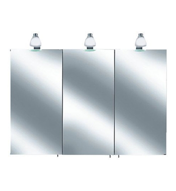 Keuco 05603171351 Royal 30 Lighted Mirror Cabinet with Silver Anodized Body and Matt White Light Shades