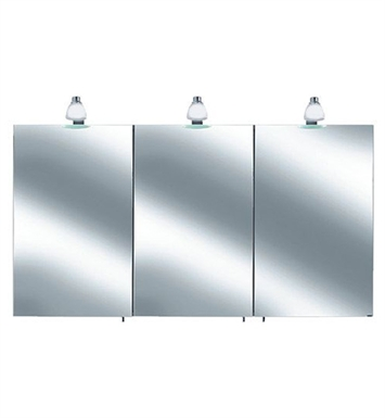 Keuco 05604171351 Royal 30 Lighted Mirror Cabinet with Silver Anodized Body and Matt White Light Shades