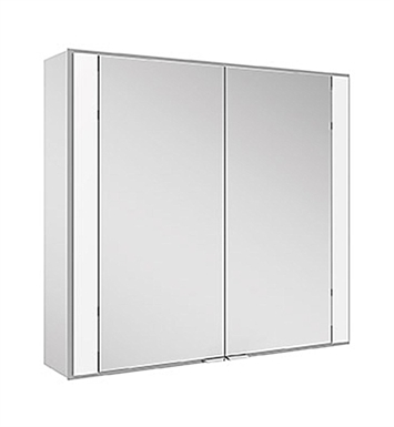Keuco 22111171351 Royal 60 Recess Mount Mirror Cabinet with Silver Anodized Body Finish
