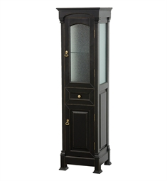 Andover Traditional Linen Side Cabinet by Wyndham Collection in Black