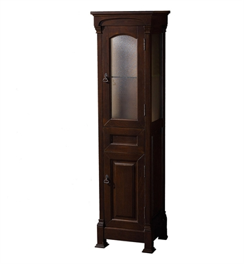 [DISABLED]Andover Traditional Linen Side Cabinet by Wyndham Collection in Dark Cherry