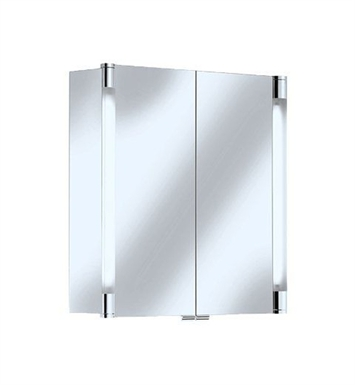 Keuco 13801171352 Royal T2 Mirror Cabinet with Silver Anodized Body Finish and Two Interior Drawers