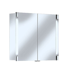 Keuco Royal T2 13802 Mirror Cabinet with Silver Anodized Body Finish and Two Interior Drawers