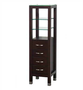 [DISABLED]Tavello Wood Bathroom Cabinet by Wyndham Collection in Espresso