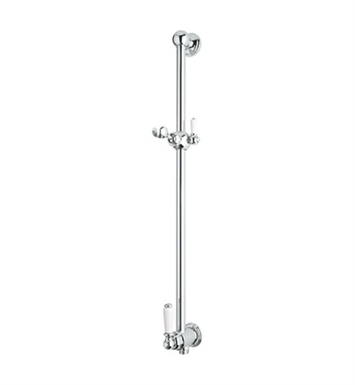 Rohl U-5535-IB Perrin & Rowe® Shower Bar With Integrated Volume Control And Outlet With Finish: Inca Brass <strong>(SPECIAL ORDER, NON-RETURNABLE)</strong>