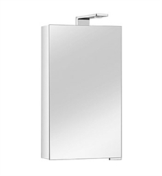 Keuco Royal Universe 12701 Mirror Cabinet with Left Hand Hinge - Silver Anodized Body and Chrome Plated Light Shades