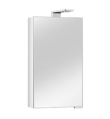Keuco 12701171251 Royal Universe Mirror Cabinet with Left Hand Hinge - Silver Anodized Body and Chrome Plated Light Shades