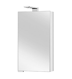 Keuco Royal Universe 12701 Mirror Cabinet with Right Hand Hinge - Silver Anodized Body and Chrome Plated Light Shades