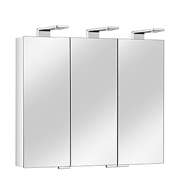 Keuco 12704171351 Royal Universe Mirror Cabinet with Silver Anodized Body and Chrome Plated Light Shades