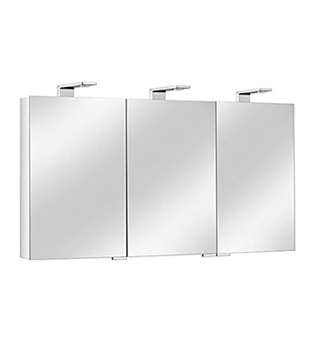 Keuco 12705171351 Royal Universe Mirror Cabinet with Silver Anodized Body and Chrome Plated Light Shades