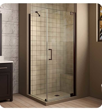 "DreamLine SHEN-4134301-01 Elegance Frameless Pivot Shower Enclosure With Finish: Chrome And Dimensions: D 34"" x W 30"" x H 72"" 