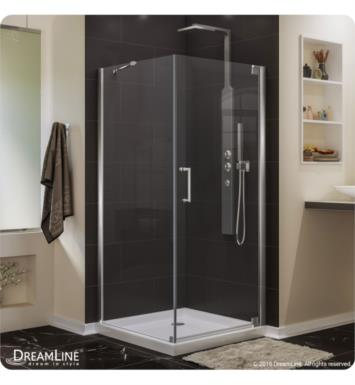 "DreamLine SHEN-4130340-04 Elegance Frameless Pivot Shower Enclosure With Dimensions: D 30"" x W 34"" x H 72"" 