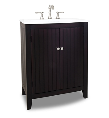 Hardware Resources VAN068 Dalton Espresso Vanity with Preassembled Integrated White Porcelain Top and Bowl by Bath Elements