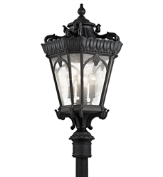 Kichler Tournai Collection Outdoor Post Mount 4 Light in Textured Black