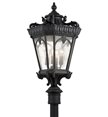 Kichler 9565BKT Tournai Collection Outdoor Post Mount 4 Light in Textured Black