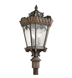 Kichler Tournai Collection Outdoor Post Mount 4 Light in Londonderry Finish