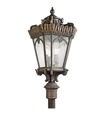 Kichler 9565LD Tournai Collection Outdoor Post Mount 4 Light in Londonderry Finish