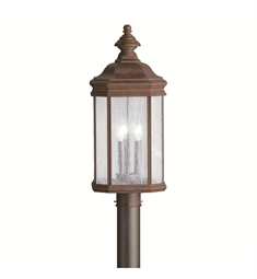 Kichler Outdoor Post Mount 3 Light in Tannery Bronze