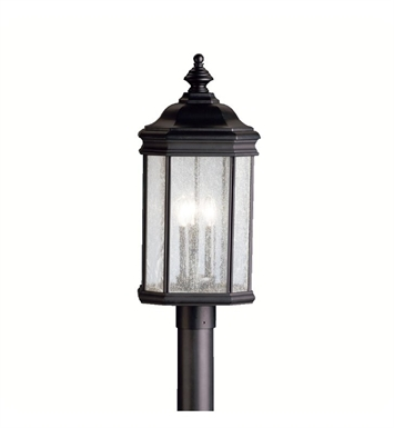 Kichler 9918BK Outdoor Post Mount 3 Light in Black