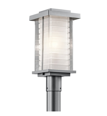 Kichler 49367PL Ascari Collection Outdoor Post 1 Light Incandescent in Platinum Finish