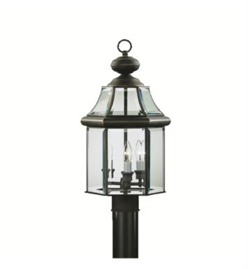 Kichler 9985OZ Embassy Row 3 Light Incandescent Outdoor Post Mount Lantern in Olde Bronze