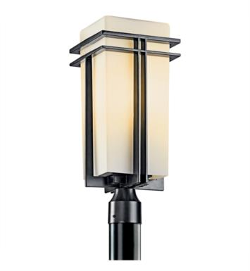 Kichler 49207BKFL Tremillo 1 Light Fluorescent Outdoor Post Mount Lantern in Black (Painted)