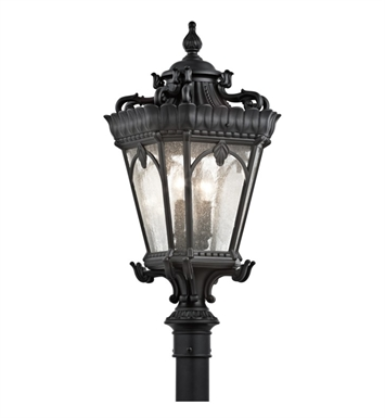 Kichler 9559BKT Tournai Collection Outdoor Post Mount 4 Light in Textured Black