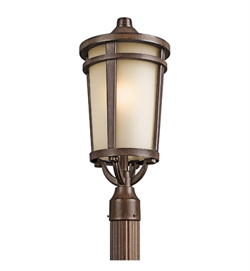 Kichler 49074BST Atwood Collection Outdoor Post Mount 1 Light in Brown Stone