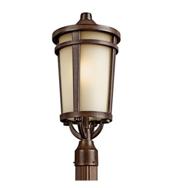 Kichler 49074BSTFL Atwood 1 Light Fluorescent Outdoor Post Mount Lantern in Brown Stone