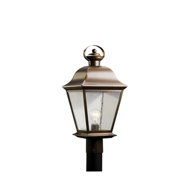Kichler 9909OZ Mount Vernon Collection Outdoor Post Mount 1 Light in Olde Bronze