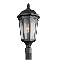 Kichler Courtyard Collection Outdoor Post Mount 1 Light in Textured Black