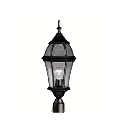 Kichler Townhouse Collection Outdoor Post Mount 1 Light in Black