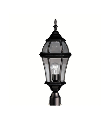 Kichler 9992BK Townhouse Collection Outdoor Post Mount 1 Light in Black
