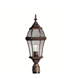 Kichler Townhouse Collection Outdoor Post Mount 1 Light in Tannery Bronze