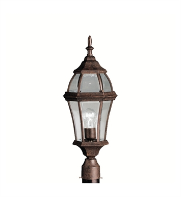 Kichler 9992TZ Townhouse Collection Outdoor Post Mount 1 Light in Tannery Bronze