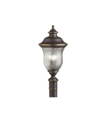 Kichler 9932OZ Sausalito 3 Light Incandescent Outdoor Post Mount Lantern in Olde Bronze