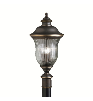 Kichler 9932OZ Sausalito Collection Outdoor Post Mount 3 Light in Olde Bronze