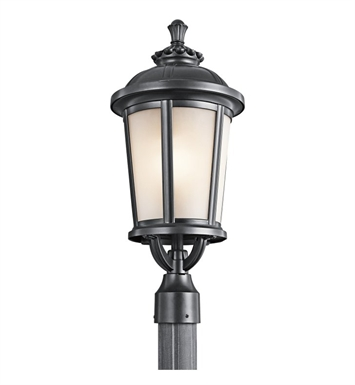 Kichler 49413BK Ralston Collection Outdoor Post Mount 1 Light in Black