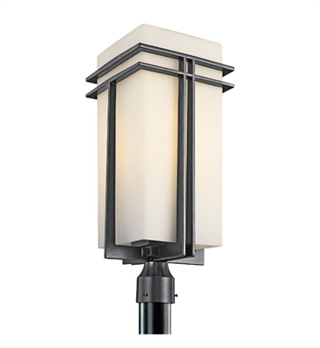 Kichler 49204BK Tremillo Collection Outdoor Post Mount 1 Light in Black