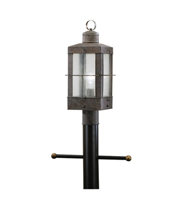 Kichler 9979OB Concord Collection Outdoor Post Mount 1 Light in Olde Brick