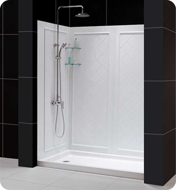 "DreamLine SHBW-1438743-01 Qwall-5 Shower Backwalls Kit With Dimensions: W 34"" to 38"" x D 30"" to 40"" x H 74"" And Finish: Chrome"