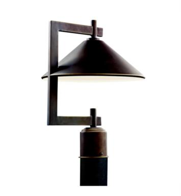 Kichler 49063OZ Ripley 1 Light Incandescent Outdoor Post Mount Lantern in Olde Bronze