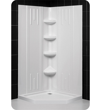 DreamLine Qwall2-DL-61 Qwall-2 Shower Base and Backwall Kit