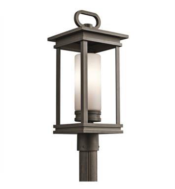 Kichler 49478RZ South Hope 1 Light Incandescent Outdoor Post Mount Lantern in Rubbed Bronze