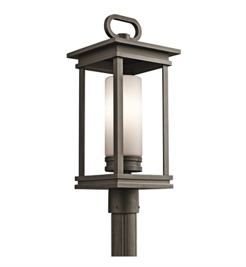 Kichler 49478RZ South Hope Collection Outdoor Post Mount 1 Light in Rubbed Bronze