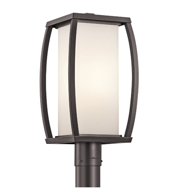 Kichler 49342AZ Bowen Collection Outdoor Post 1 Light in Architectural Bronze